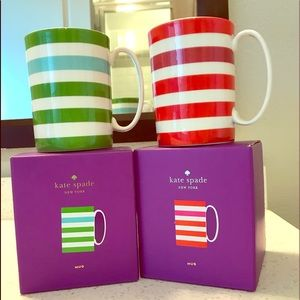 Set of two Brand New Kate Spade mugs by Lenox